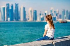 Mała dziewczynka w Doha Katar zdjęcia stock