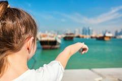 Mała dziewczynka w Doha Katar fotografia royalty free