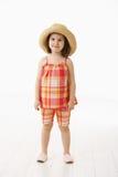Mała dziewczynka w lato sukni Zdjęcie Royalty Free