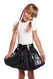 Mała dziewczynka w mundurek szkolny Obraz Stock