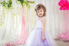Mała dziewczynka w pięknej sukni Obraz Stock