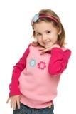 Mała dziewczynka w różowej bluzce Fotografia Royalty Free