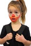Mała Dziewczynka Z błazenu Makeup Zdjęcie Royalty Free