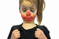 Mała Dziewczynka Z błazenu Makeup obraz royalty free