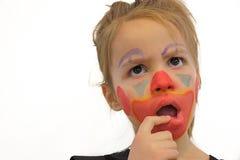 Mała Dziewczynka Z błazenu Makeup obrazy stock