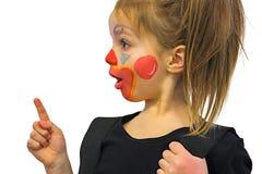 Mała Dziewczynka Z błazenu Makeup zdjęcie stock