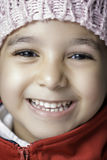 Mała Dziewczynka z Dużym uśmiechem Fotografia Stock