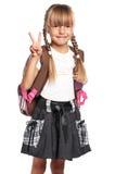 Mała dziewczynka z plecakiem Obrazy Stock