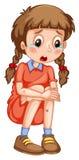 Mała dziewczynka z stłuczeń płakać royalty ilustracja