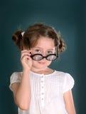 Mała dziewczynka z szkłami Fotografia Stock