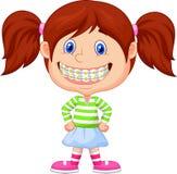 Mała dziewczynka z wspornikami ilustracji