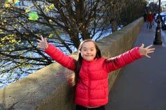 Mała dziewczynka zabawę Zdjęcia Stock