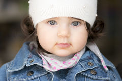 mała dziewczynka zbliżenie Obrazy Royalty Free