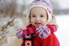 mała dziewczynki zima zdjęcie royalty free
