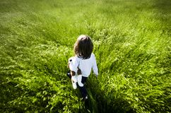 mała dziewczyny łąka Fotografia Stock
