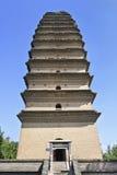 Mała Dzika Gęsia pagoda, jeden dwa znaczącej pagody w ` XI., Chiny obraz royalty free