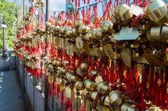 mała dzwon modlitwa obrazy stock