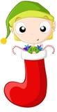 mała elf pończocha Obrazy Stock