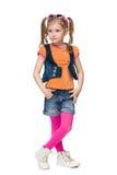 mała fashion girl zdjęcie royalty free