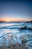 Mała Fistral plaża obrazy stock