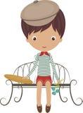 Mała francuska chłopiec ilustracja wektor