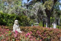 Mała Gracie statua w Bonaventure cmentarzu zdjęcie royalty free