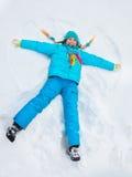 Mała gwiazda w śniegu obraz royalty free