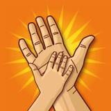 Mała i wielka ręka ilustracja wektor