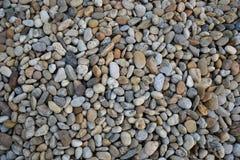 Mała kamienia żwiru tekstura Naturalnie otoczak textured tło Ogrodowy wystrój Obraz Royalty Free