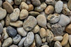 Mała kamienia żwiru tekstura Naturalnie otoczak textured tło Ogrodowy wystrój Obrazy Stock