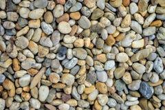 Mała kamienia żwiru tekstura Naturalnie otoczak textured tło Ogrodowy wystrój Obraz Stock