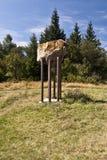 Mała kamienna rzeźba w Javorniky górach obraz stock