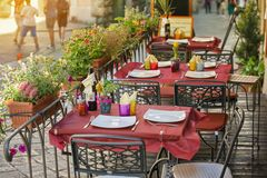 Mała kawiarnia w Tuscany, Włochy zdjęcia stock