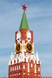 Mała kopia Moskwa Spasskaya Kremlowski wierza z kurantami fotografia royalty free