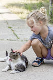 mała kot dziewczyna Fotografia Stock