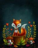 mała lis czerwień Fotografia Royalty Free
