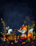 mała lis czerwień Obraz Royalty Free