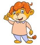 Mała lwa falowania ręka Obraz Royalty Free