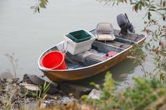 Mała metal łódź rybacka Obrazy Royalty Free