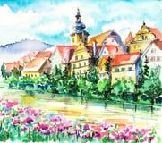 mała miasto wiosna