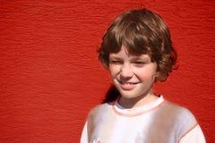 mała mruganie chłopiec Fotografia Royalty Free