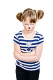 Mała myszy dziewczyna bardzo nieszczęśliwa Obrazy Royalty Free