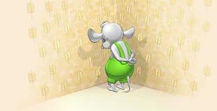 Mała myszy pozycja w kącie Zdjęcia Royalty Free