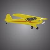 Mała płaskiego wektoru ilustracja Pojedynczego silnika napędzający samolot Powietrze objeżdża wehicle Zdjęcie Stock