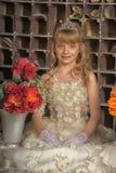 Mała panna młoda z tiarą zdjęcie royalty free