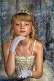 Mała panna młoda z tiarą obraz royalty free