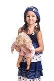Mała piękna dziewczyna z lalą Zdjęcie Royalty Free