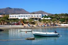 Mała plaża i schronienie, Agios Nikolaos Zdjęcie Royalty Free