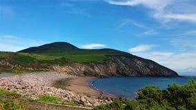 Mała plaża w południowych zachodach Irlandia obrazy stock