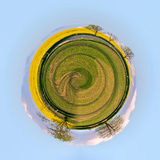 Mała planeta Pięknego lata wiejski krajobraz Zdjęcia Stock